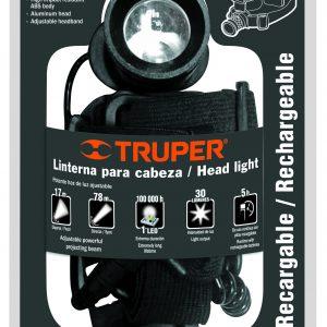Linterna.front.p/min.inc.3pAAA rec.1Led,(30Lm) TRUPER