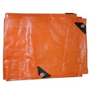Lona Impermeable Naranja  3 X 3mts. Goldex