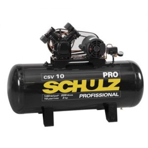 Compresor 2hp Csv-10 Monofasico 200Lt. Linea Pro Schulz