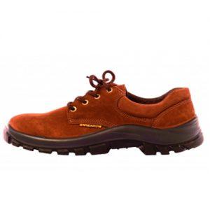 Zapato de cuero Top nobuck marrón pta. acero  WORKSAFE