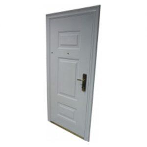 Puerta Blindada Blanca. Derecha Apertura Int.