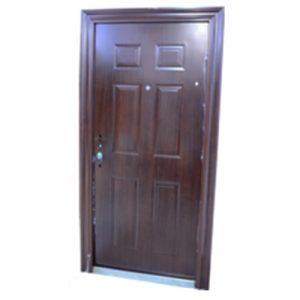 Puerta Blindada Símil Madera Der.Apertura Int.