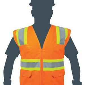 Chaleco Seguridad Naranja TRUPER – 218G – 6 Bolsillos