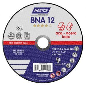 Disco de Corte Metal NORTON BNA12 – 115mm x 1,6mm – Fino