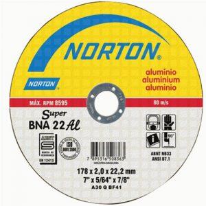 Disco de Corte Aluminio NORTON BNA22 – 178mm x 2mm