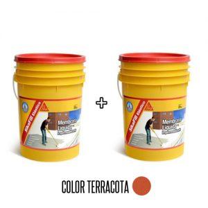 Membrana líquida impermeabilizante Sikafill elástico 20+20Kg Terracota
