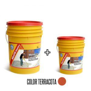 Membrana líquida impermeabilizante Sikafill elástico 20+4Kg Terracota