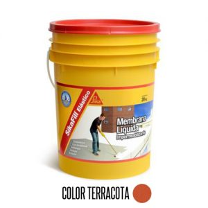 Membrana líquida impermeabilizante Sikafill elástico 20Kg Terracota